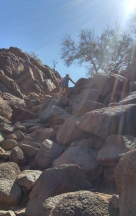 Climbing Camelback Mountain in AZ.